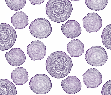 Large Purple Tree Rings fabric by landpenguin on Spoonflower - custom fabric