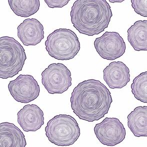 Large Purple Tree Rings