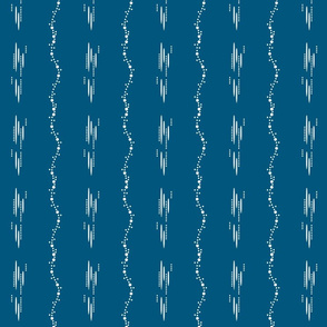 1900 Dots and stripes-blue