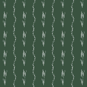 1900 Dots and stripes-green