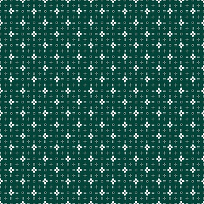 1900 Flowers and dots-green