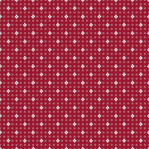 1900 Flowers and dots-red