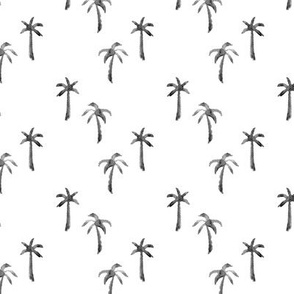 Watercolor Palm Trees // Black and White
