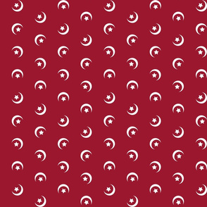1900 Moon and stars-red