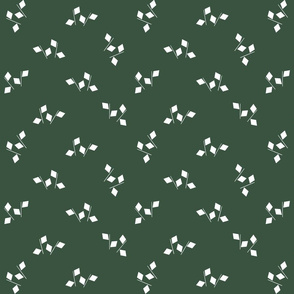 1900 Squares and stripes-green