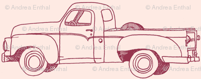 Nifty Fifties 1957 Studebaker Pick up Truck (on pink)