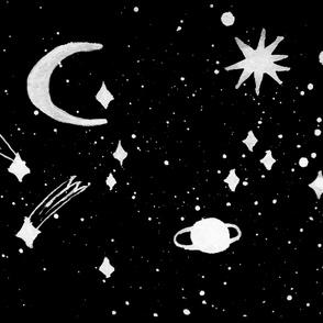 Black night cellestial