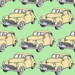 1946 Studebaker light yellow / mint green