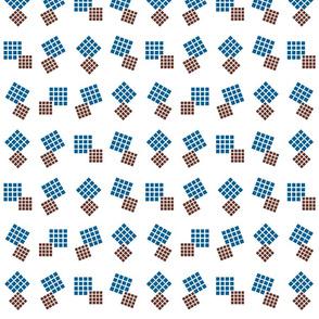 1900 Squares Dance-blue