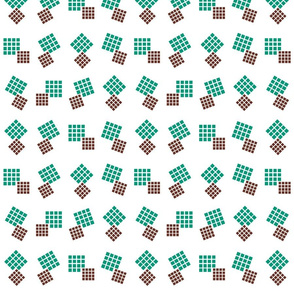 1900 Squares Dance-green