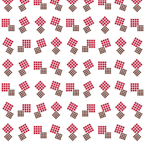 1900 Squares Dance-red