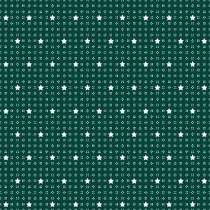 1900 Stars and dots-green