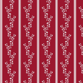 1900 Stripes and flowers-red