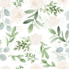 Rose and Eucalyptus Florals