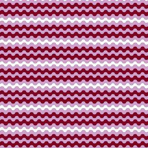 Burgundy Waves Dress