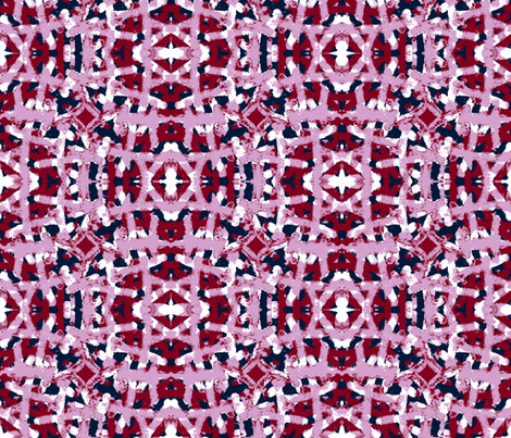 Orchid Burgundy Navy Painted Print fabric by palusalu on Spoonflower - custom fabric