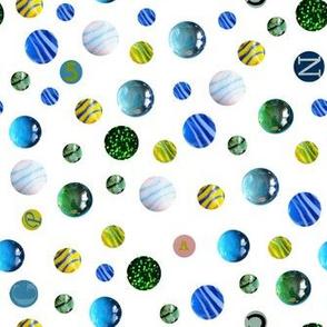 Balls bubbles letters - Billes bulles lettres -