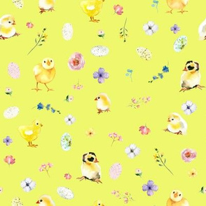 """8"""" Easter Chicks - Bright Yellow"""