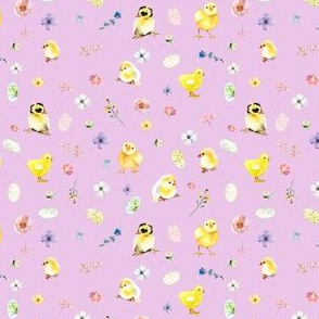 """4"""" Easter Chicks - Lilac"""