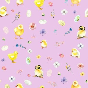"""8"""" Easter Chicks - Lilac"""