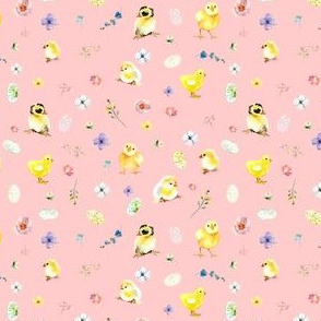 "4"" Easter Chicks - Pink"
