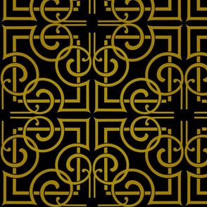 Black and Gold curvey artdeco