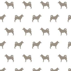 Husky Silhouette Warm Grey