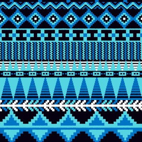 Farmhouse Kilim in Blue Monochrome Multi