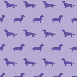 Purple Dachshund Silhouettes