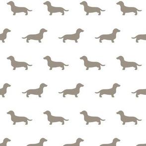 Dachshund Warm Grey Silhouettes