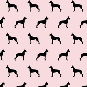 Great Dane Silhouette on Pink