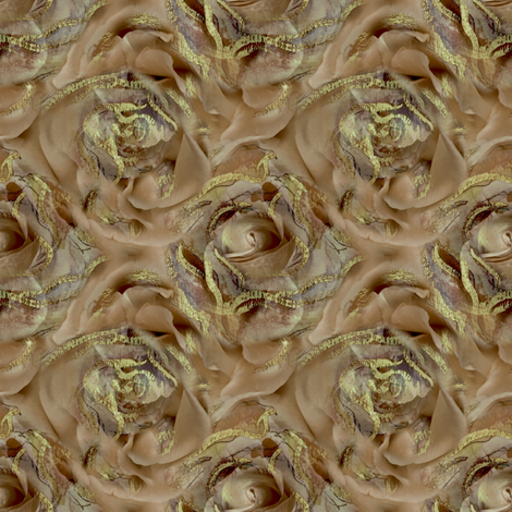 Gold Antique Beige Rose fabric by patriciacwilson on Spoonflower - custom fabric