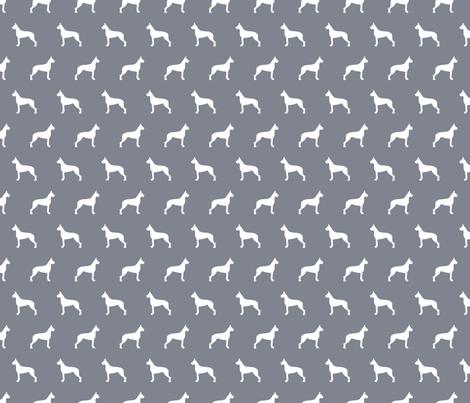 Great Dane Silhouettes - Cool Grey fabric by mariafaithgarcia on Spoonflower - custom fabric