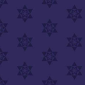 Stars lila gles