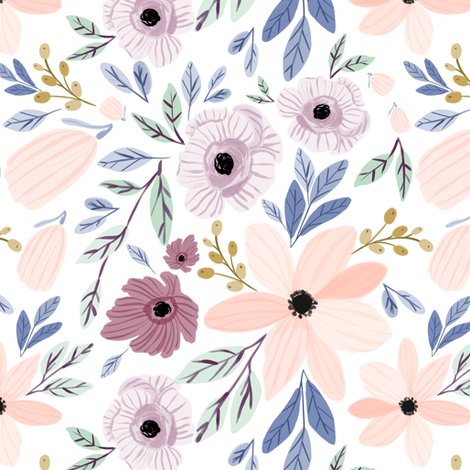 Indy bloom design sugar plum poppy B fabric by indybloomdesign on Spoonflower - custom fabric