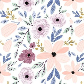 Indy bloom design sugar plum poppy B