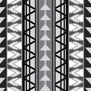 Triangle Kilim in Grayscale