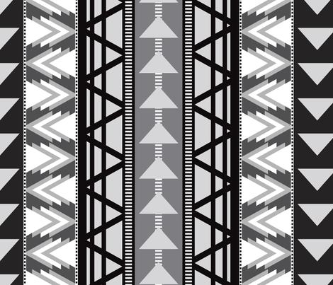 Triangle Kilim in Grayscale fabric by elliottdesignfactory on Spoonflower - custom fabric