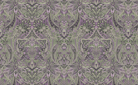 Paisley Garden Lilac fabric by littlerhodydesign on Spoonflower - custom fabric