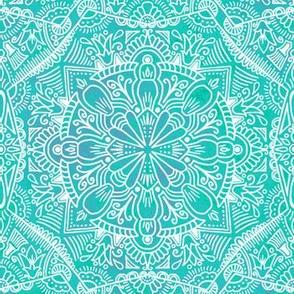 Floral Ethnic - Aqua