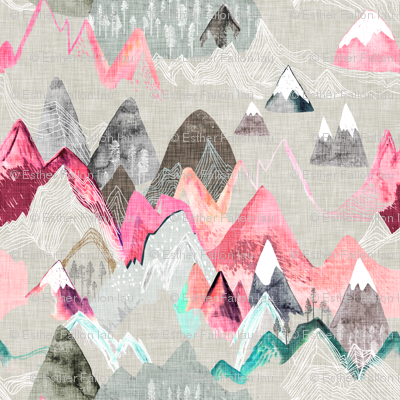 Call of the Mountains (pink) SMALL