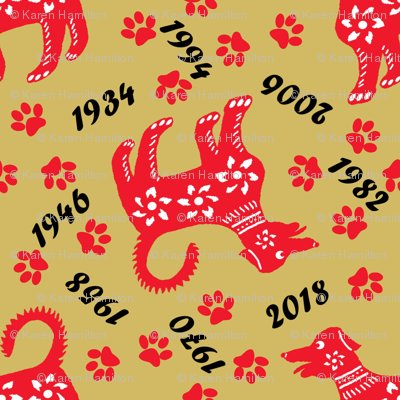 Years of the dog - Chinese Zodiac wallpaper