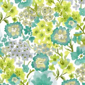 Modern Floral Aqua