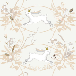 Bunny Prince Damask (x x large ) china white