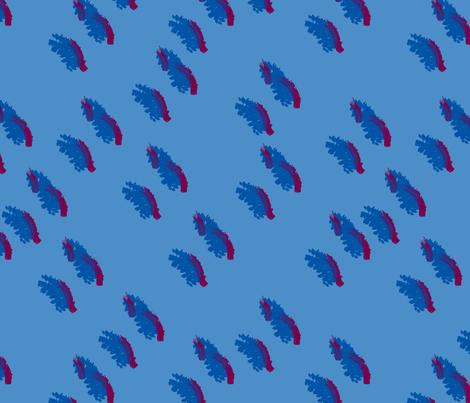 BLUE on BLUE DASH fabric by mrpeabodydesigns on Spoonflower - custom fabric