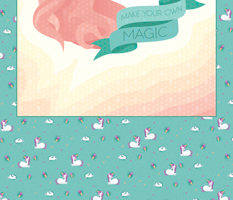 Unicorn Baby Blanket  fabric by viperprints on Spoonflower - custom fabric