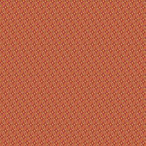 miniature kilim eye - kente colors