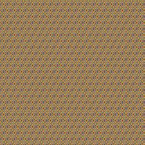 miniature kilim eye - spanish tile colors