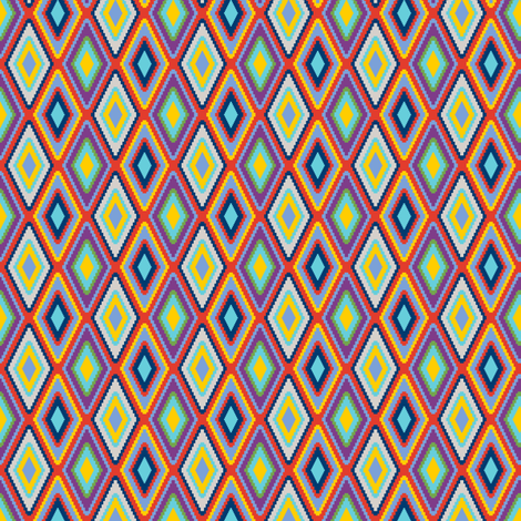 mini kilim eye - color mix 3 fabric by victorialasher on Spoonflower - custom fabric