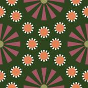 Art Deco Floral Green